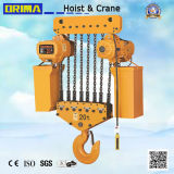 Brimaのよい評判20tonの電気チェーン起重機20tonの電気起重機