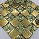 30x30 günstigen Preis mixcolor geschliffenem Kristallglas -Mosaikfliese für Design