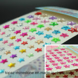 DIY를 위한 2017년 스티커 번쩍이는 다이아몬드 주옥 DIY 이동 전화 접착성 수정같은 모조 다이아몬드 스티커 Scrapbooking 스티커 도매로 (TP 별 스티커)