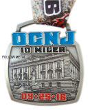Medaglia per il festival mezzo di maratona, stazione di finitura, del premio marchio 3D