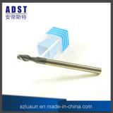 laminatoio di estremità dell'acciaio di tungsteno di 60HRC 2flute per la macchina di CNC