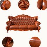 Sofa en cuir classique avec le Tableau en bois pour les meubles à la maison
