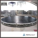 Estágio redondo portátil de alumínio do conjunto da fábrica de Guangzhou