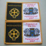 Emblema tecido escola do damasco de Overlocking