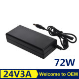 Nuovo caricatore 72W 24V 3A dell'alimentazione elettrica dell'adattatore di CA del computer portatile
