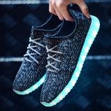 Обувь 2016 комфорта промотирования обувает напольную проблескивая фабрику Китая ботинок людей СИД