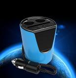 コップLEDスクリーン充満電圧の整形2ポート車の充電器