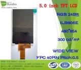 5.0 Zoll Fwvga 480X854 RGB 40pin breite Ansicht TFT LCD
