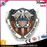 高品質米国のフラグの柔らかいエナメルが付いている軍のベルトの留め金