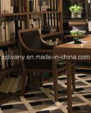 Poltrona di cuoio di legno moderna del tessuto (C-51)