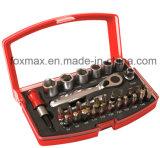 Установленное гнездо бита отвертки инструментального ящика 32PC установленное (FST-012)