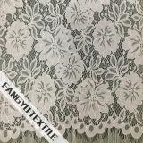 Tela de nylon do laço do projeto da flor e da folha