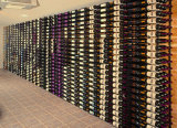 Стена установила шкаф вина индикации бутылки с шкафом стекел вина