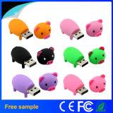 주식에 있는 도매 무료 샘플 PVC 돼지 같은 USB 섬광 드라이브