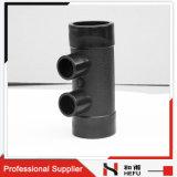 Fusion diverse de plot de HDPE de pipe de HDPE bon marché de l'ajustage de précision 4-Ways