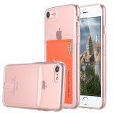 Анти--Поцарапайте случай Absorbing кристально чистый мягкий TPU удара гибкий Bumper с гнездом для платы на iPhone 7