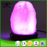 Белый кристаллический Himalayan светильник соли с светом ночи