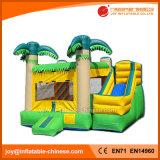 Castello di salto gonfiabile della noce di cocco gialla combinato per il parco di divertimenti (T3-111)