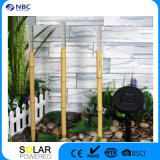 Solar Tiki Torches Lighting 1 Pack Bamboo Flickering Outdoor Lighting ajustável