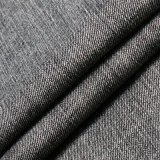 Tela viscosa escovada preto do Spandex do poliéster do algodão para calças de brim da sarja de Nimes
