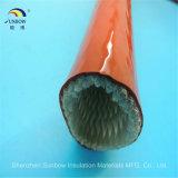 Il manicotto della vetroresina della prova di fuoco ha ricoperto di silicone/vetro di fibra che collega 1650 gradi con un manicotto