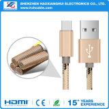 Tipo portable caliente cable de la trenza del color de C 3.0