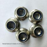 Noix de bride de l'acier inoxydable Ss316 A4-80 Nylock