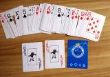 Os cartões de jogo plásticos novos do PVC de 100% embalaram no caso plástico