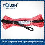Cuerda sintetizada del torno de UHMWPE con el gancho de leva, dedal, una funda protectora del contador como conjunto completo
