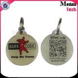 etiquetas de perro redondas de encargo de 13.56MHz NFC Qr con la resina abovedada