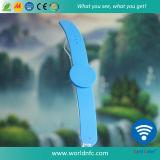 Braccialetti impermeabili del silicone di ovale RFID con l'iso 14443A