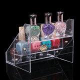 En annonçant le présentoir acrylique de vernis à ongles, sauter la crémaillère acrylique