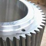 Шестерня CNC Lathe поворачивая филируя подвергая механической обработке подвергли механической обработке нержавеющей сталью, котор