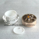Bottiglia cosmetica acrilica della plastica del vaso
