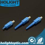 Tipo de carrocería del azul uno del Sc SM del conector óptico de la fibra