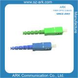 Connecteur optique recto de fibre de Sc Siglemode