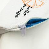 綿のジッパーの袋の袋の化粧品袋