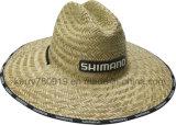 고무 로고와 인쇄 테두리를 가진 도매 주문 싼 형식 Mens 카우보이 밀짚 모자