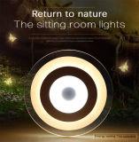 Lámpara cristalina moderna montada del techo LED de la dimensión de una variable de hoja de la manera
