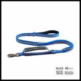 Guinzaglio elastico del cane di animale domestico del cavo Anti-Shock riflettente del cane con la maniglia di plastica
