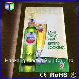 Muestra de acrílico cristalina de la cerveza del rectángulo ligero del marco del LED para la tablilla de anuncios montada en la pared