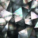 Azulejo de mosaico irregular del triángulo del labio del shell negro de la fregona