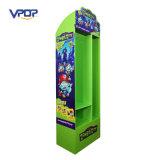 Étalage de crochet debout de carton d'étage de Vpop avec des trous