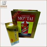 Fördernde Großhandelspappkaufender Papierbeutel mit Firmenzeichen-schwarzem Farbband-UVriemen