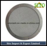 Filtre tissé de treillis métallique d'acier inoxydable avec le bord couvert