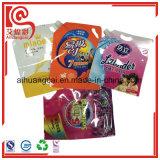 La bolsa de plástico para el líquido de lavado que empaqueta con la boquilla