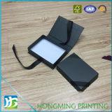Коробки ювелирных изделий черноты конструкции книги упаковывая с Silk тесемкой