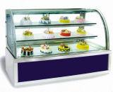贅沢なライトボックスが付いている3層のケーキのショーケース