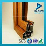 Profil en aluminium d'extrusion des graines en bois pour le profil de porte de guichet
