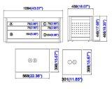 44インチ6の引出しの中間の箱; ツールキャビネット